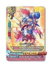 Buddyfight x 1 Double Squeek Hammer Dragon [H-BT03/0010EN RR] English Foil Mint