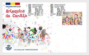andorra SPAIN 2021 andorre Harlequins of Canillo popular culture events 1v FDC
