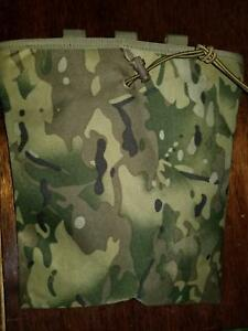Multicam Dump Pouch MOLLE Roll Up Storage Pouch New