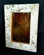 Tozai Home Cowhide Picture Frame with Gold Foil Accents    7.5 X 9.5      1 of 2