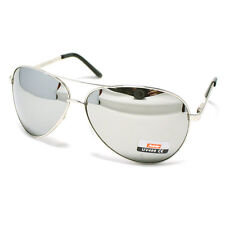 Men's Classic COP PILOT AVIATOR Fashion Sunglasses SILVER/MIRROR LENS