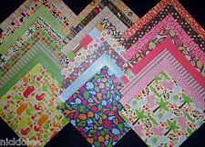 12X12 Scrapbook Paper Cardstock DCWV Animal Crackers Stack Zoo Jungle 24 Lot