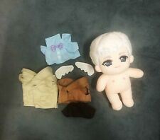 Movie Good Omens Michael Sheen Angel Plush Toys Doll Clothes Stuffed Limited N
