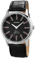 Akzent Herren Armbanduhr Quarz Herrenuhr Armband 3 ATM wasserdicht schwarz Uhr