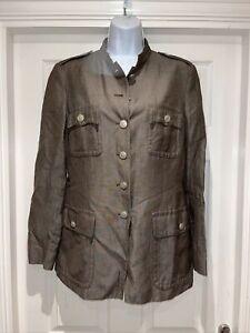 Ladies MAX MARA Military Style Casual Jacket Size 12