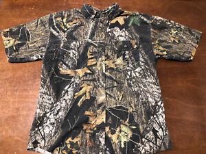 Fieldstaff Mossy Oak Camo Short Sleeve Realtree Shirt Large