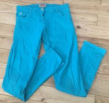Girls Designer French Connection Turquoise Skinny Jeans, Sz 12/13 Years. VGC