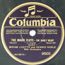 """78rpm 12"""" MIRIAM LICETTE & DENNIS NOBLE the manly heart / give me thy hand"""