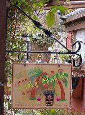Personalised x large Hanging Tiki Pub sign, Home Bar, homebrew, mancave Free P&P