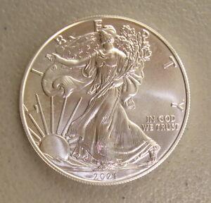 2021 1 oz $1 American Silver Eagle Bullion Coin Uncirculated