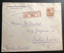 1930 Bandoeng Netherlands Indies Commercial cover To Prague Czechoslovakia