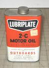 Vintage+LUBRIPLATE+2-C+Motor+Oil+Unopened+16oz+6%22+Metal+Can+-+FISKE+-+Outboards