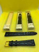 Lot Of 3 JB Champion 11/16 17.45mm Reg Brown Croco Calf Leather Watch Bands #625