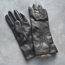 Vintage Rabbit Fur Lined Vinyl Gloves Size A Small Made in Macao