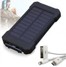 2 usb solare POWER BANK carica BATTERIA ESTERNA 100000mAh SMARTPHONE PORTATILE