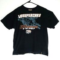 V8 Supercars 635 Horsepower Australia Branded Black Short Sleeve T Shirt Size XL
