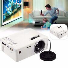 Mini LED LCD Projector HD 1080P Home Theater HDMI USB VGA AV Cinema White EU GL