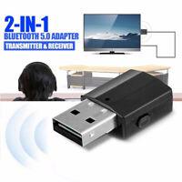 USB Bluetooth Receiver 3.5 Audio Transmitter Adapter For TV/PC Headphone Speaker