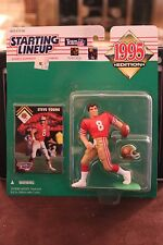 1995 STEVE YOUNG Starting Lineup Figure - San Francisco 49ers -w/protective dome