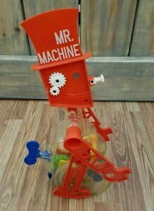 Vintage  Ideal Mr. Machine Windup Rolling Robot Read Authentic