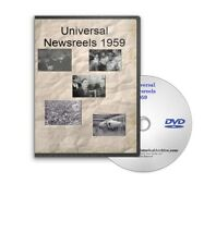 Universal Newsreels 1959 Monkey In Space, World Series, Castro NASA Mercury A599