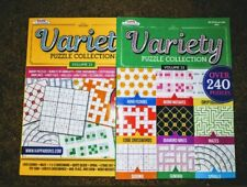 2 New Kappa Variety Puzzle Books Over 240 Puzzles in Each Book