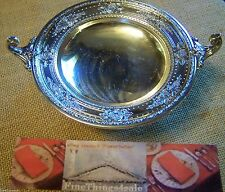 FANCY INTERNATIONAL SILVER COMPOTE TAZZA FOOTED TRAY - WEDGWOOD CLASSICAL STYLE