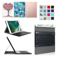 For iPad 5th Gen 9.7'' 2017 Bluetooth Keyboard Case Magnetic Leather Stand Cover