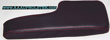 Armrest Center Console PVC Leather kit Cover For Honda Civic 2001-05 Red Stitch