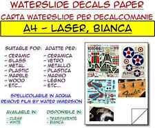 5 fogli A4 carta decalcomanie per laser, bianca - waterslide decals paper