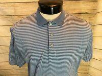 Donald Trump Golf Polo Shirt Signature Collection Men's M Blue striped - Y14