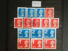 Great Britain 2013 14 Different Security Machin Definitives Collection