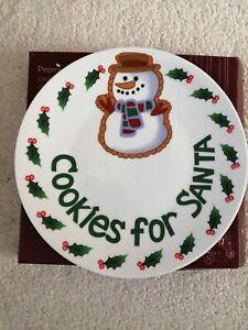 BNIB Cookies For Santa Plate