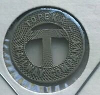 Topeka Kansas KS Topeka Railway Company Transportation Token