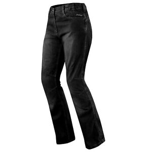 Jeans Ladies Denim CE Knee Armored Motorcycle Biker Pants All Sizes Black