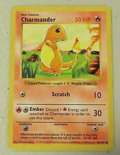 USED Rare CHARMANDER Pokemon Card 50HP Basic Trading Game 46/102, 1999