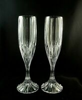 "(2) PARK LANE by Mikasa Crystal CHAMPAGNE Flutes Glasses 8 3/4"" MINT CONDITION"