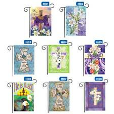 Garden Easter Cross He Is Risen House Decoration Double Sided low/
