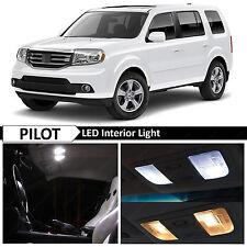 2009-2015 Honda Pilot White Interior LED Lights Package Kit + TOOL