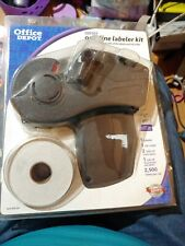 Office Depot Od101~One-Line Pre-Loaded Labeler Kit Price Gun w/ Labels&Ink Roll