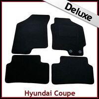 HYUNDAI COUPE Mk2 2002-2009 Tailored LUXURY 1300g Carpet Car Floor Mats BLACK
