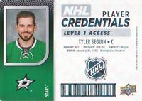 2017-18 Upper Deck MVP NHL Player Credentials L1 Access #SE Tyler Seguin
