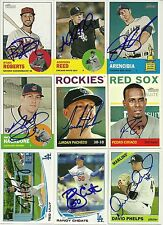 2012 Topps Heritage ADDISON REED Signed Card WHITE SOX METS rc etiwanda, ca