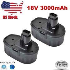 2 Pack 3000mAh 18V Battery for Dewalt XRP DC9096 DE9095 DW9095 DC9099 USA