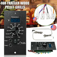 Fast Digital Thermostat Control Board For Traeger Wood Pellet + 2 Probes USA