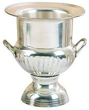 Benzara Silver Plated Brass Ice / Wine Bucket 10 18611 Wine Bucket NEW