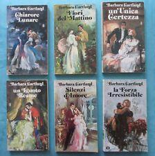BARBARA CARTLAND 6 libri Un'unica certezza - Chiarore lunare - silenzi d'amore