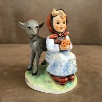 Hummel Good Friends girl with goat Figurine Goebel vintage W Germany sheep 1985