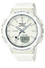Casio Bgs100-7a1 Baby-g Ladies White Duo Step Tracker Watch WR 10 ATM