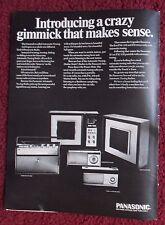 1967 Print Ad PANASONIC Gimmick Radio Line ~ Radar-Matic Automatic Tuning Line